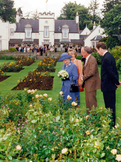 HM Queen visiting Douneside House Gardens