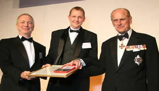HRH Prince Philip presenting the Royal Academy of Engineering MacRobert Award